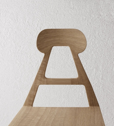 A-line chair front