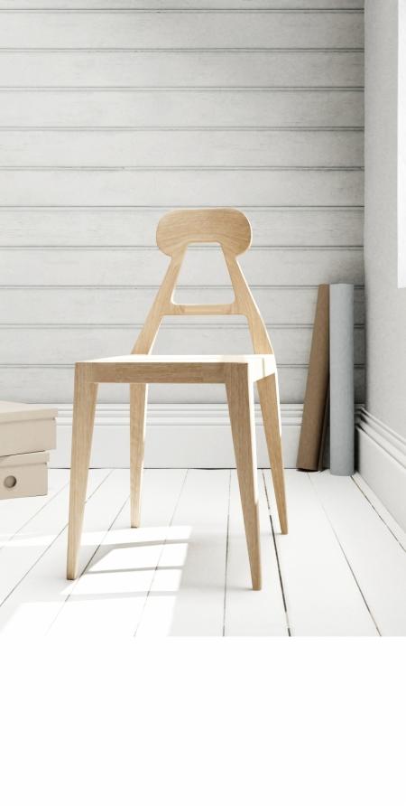 A-line chair in beach house