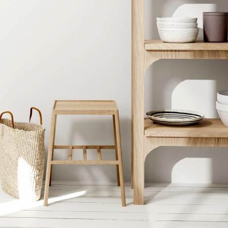 Shelves and basket