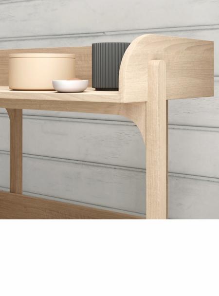 Utility shelves close-up