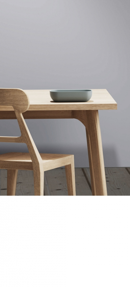 A-line chair and table